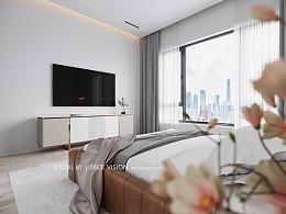 现代极简卧室