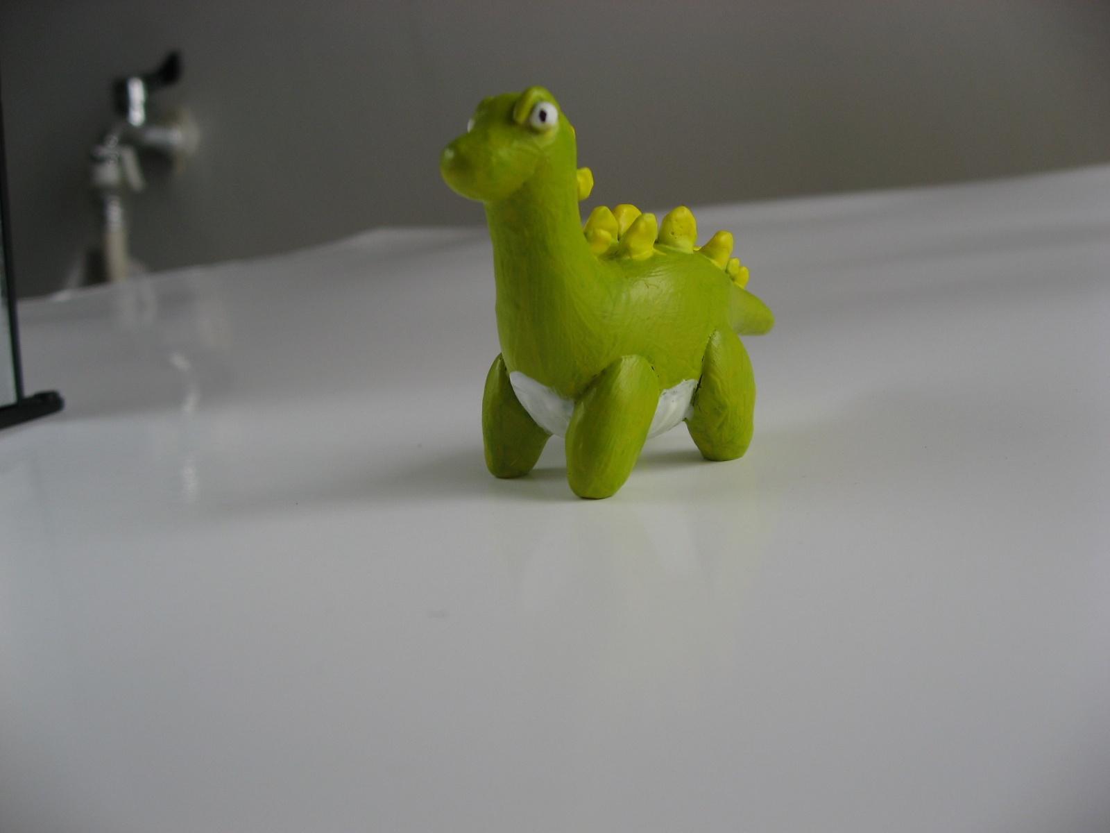 超轻粘土捏的小恐龙.