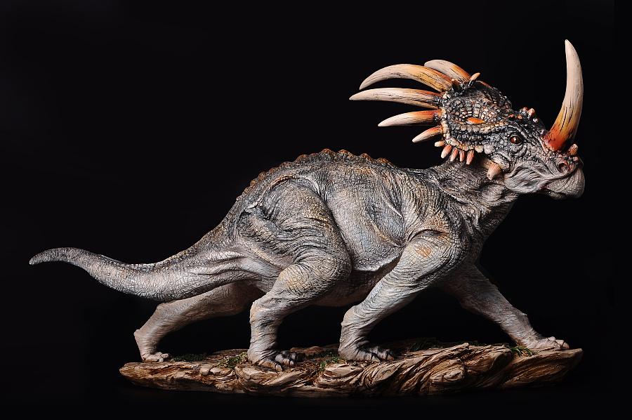 超写实恐龙--t-rex霸王龙,styracosaurus戟龙,triceratops三角龙