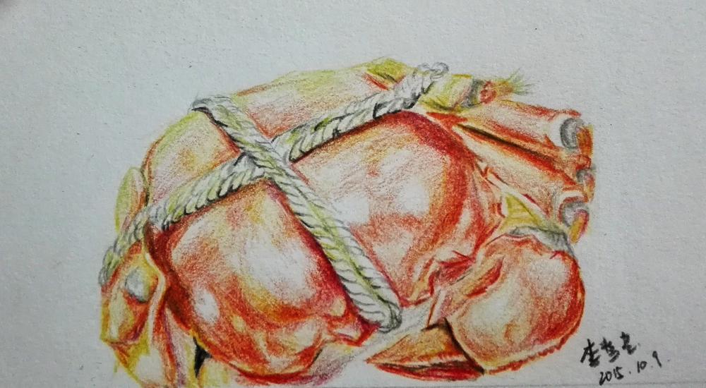 大闸蟹【彩铅手绘】