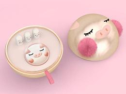 2019猪年限定创意美妆/化妆品包装设计