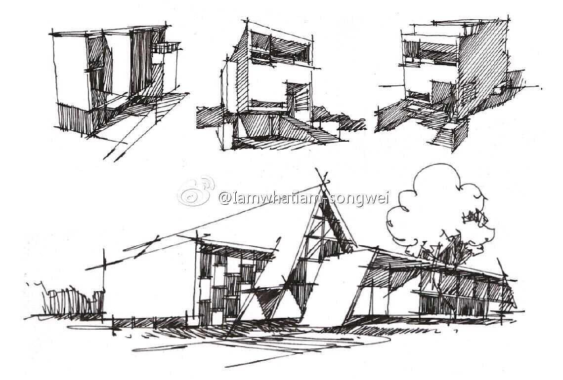 室内设计手绘基础---线稿练习