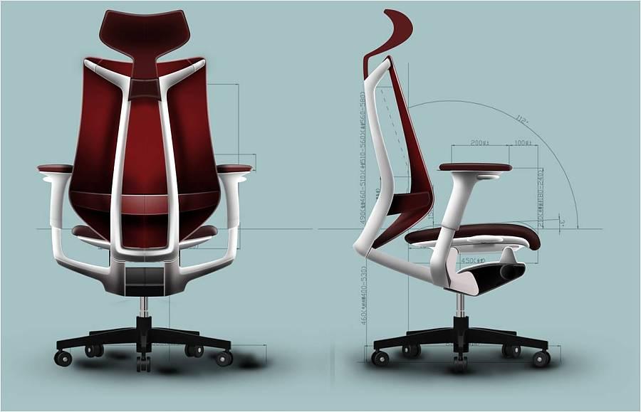 人机工程学办公椅设计 联丰椅业项目展示