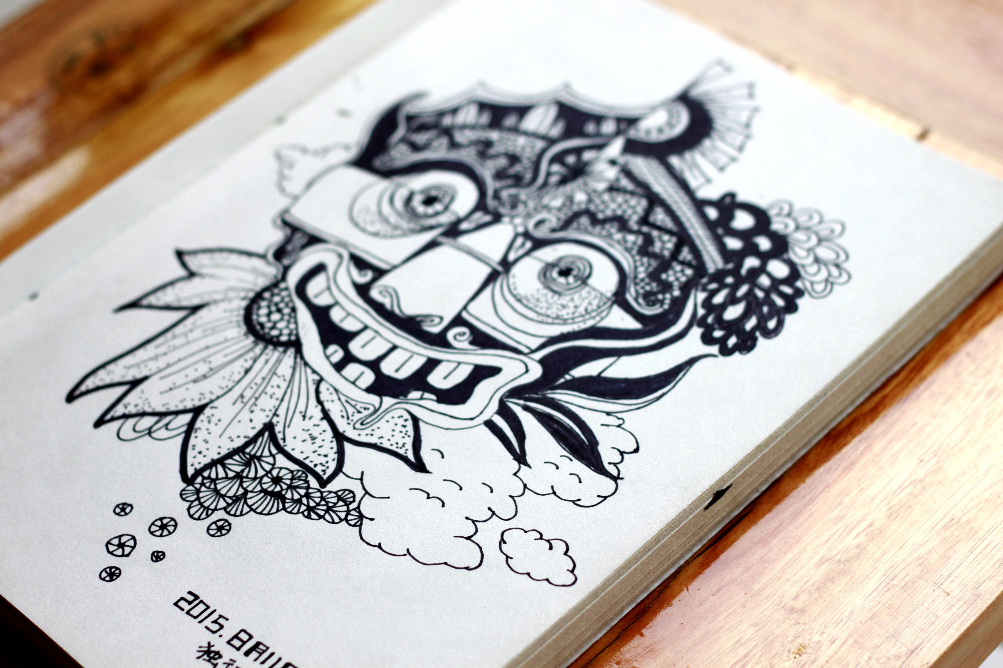 黑白手绘|插画|插画习作|carmen_w - 原创作品 - 站酷