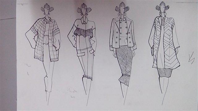 服装系列手绘