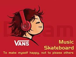 音乐,梦想,男孩插画