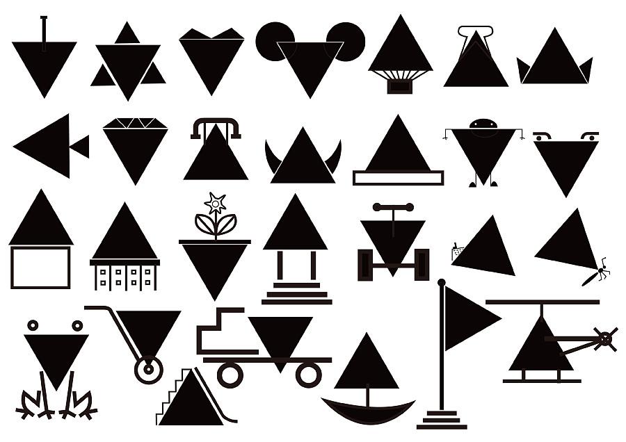 图形创意-三角形|图形/图案|平面|阿清design图片
