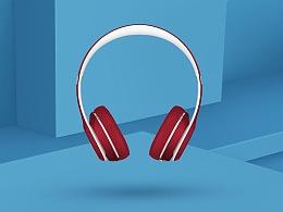 耳机海报-榨汁机海报-覆盆子海报-手表海报-牛奶海报