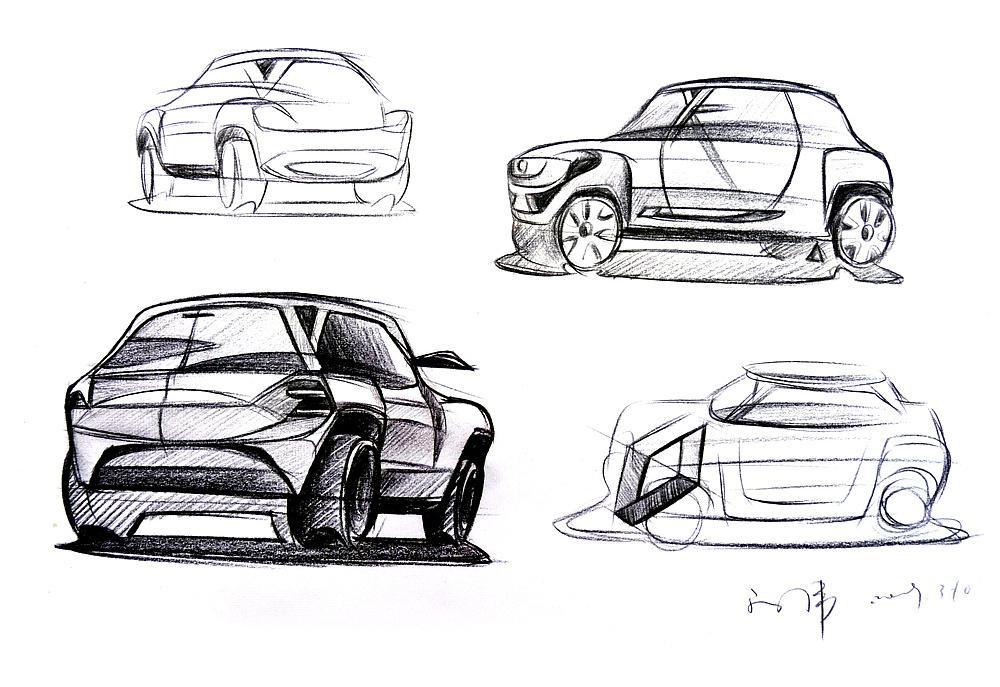 汽车草图手绘