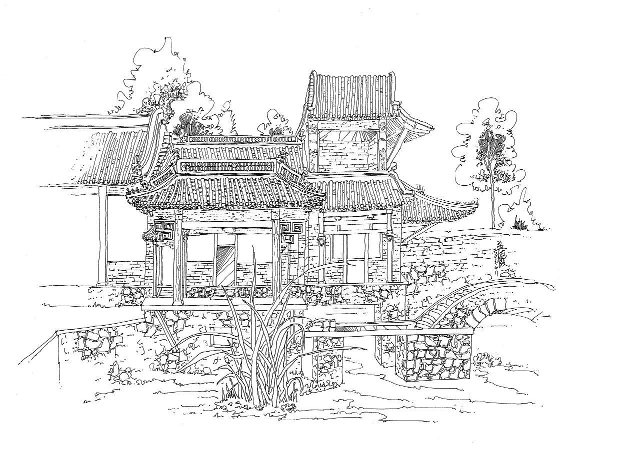 清西陵,秦皇岛建筑写生