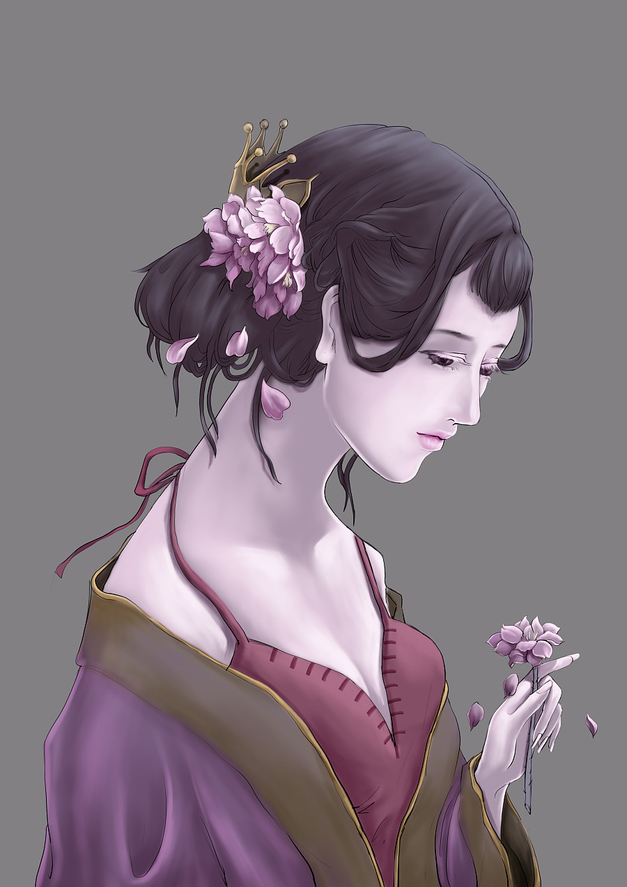 毛毛——手绘插画(少女)教程篇