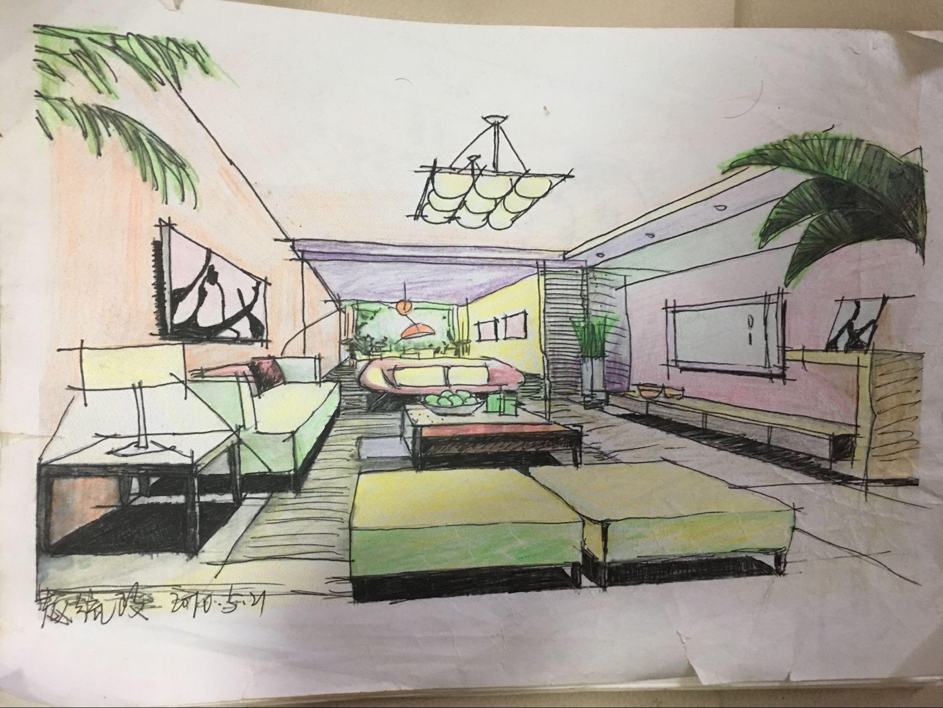 手绘图|空间|建筑设计|tesiro_zhao - 原创作品