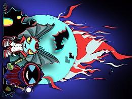 王者荣耀手绘版-温感手机壳(蝙蝠侠/吸血贵)