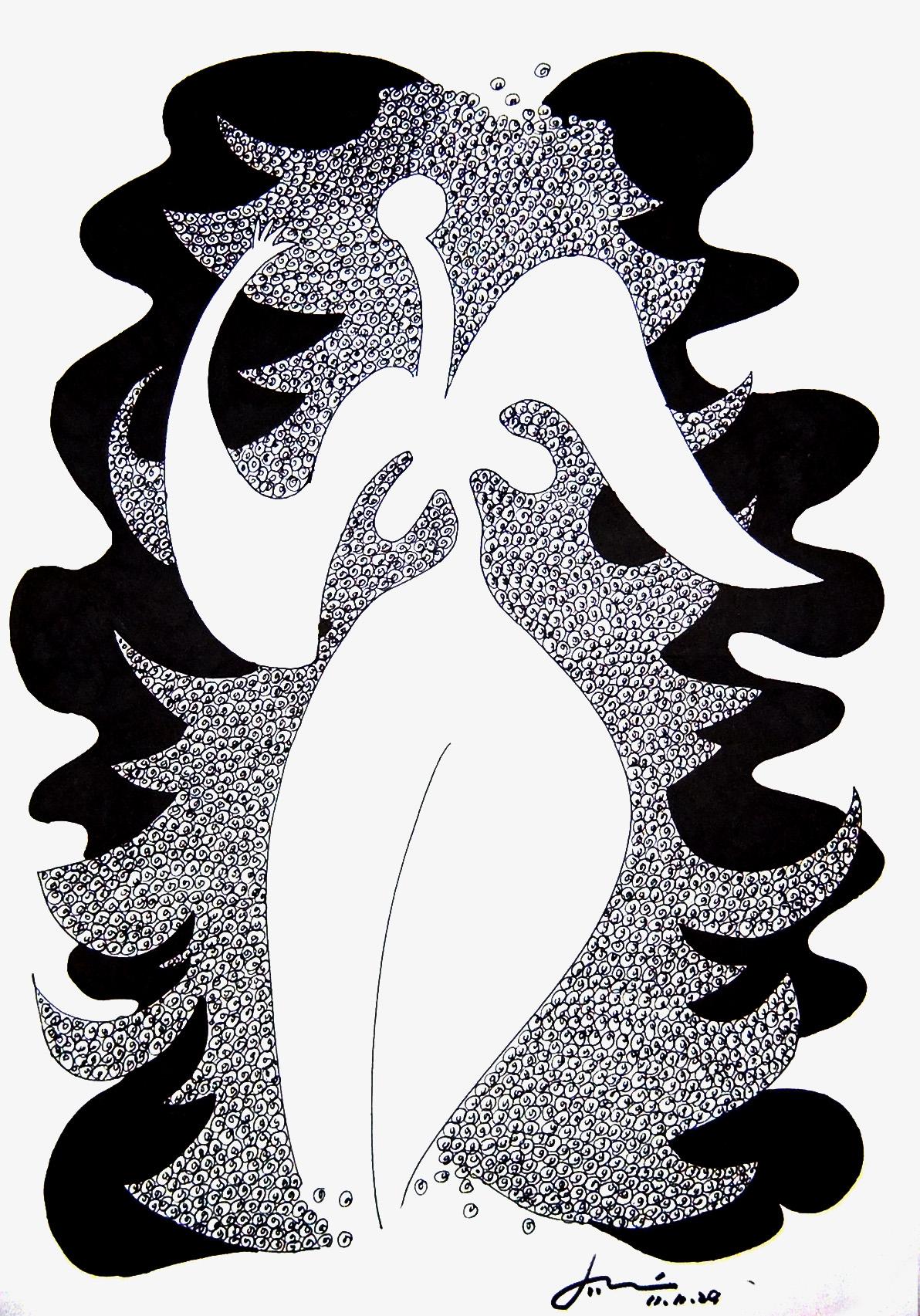 黑白装饰画习作