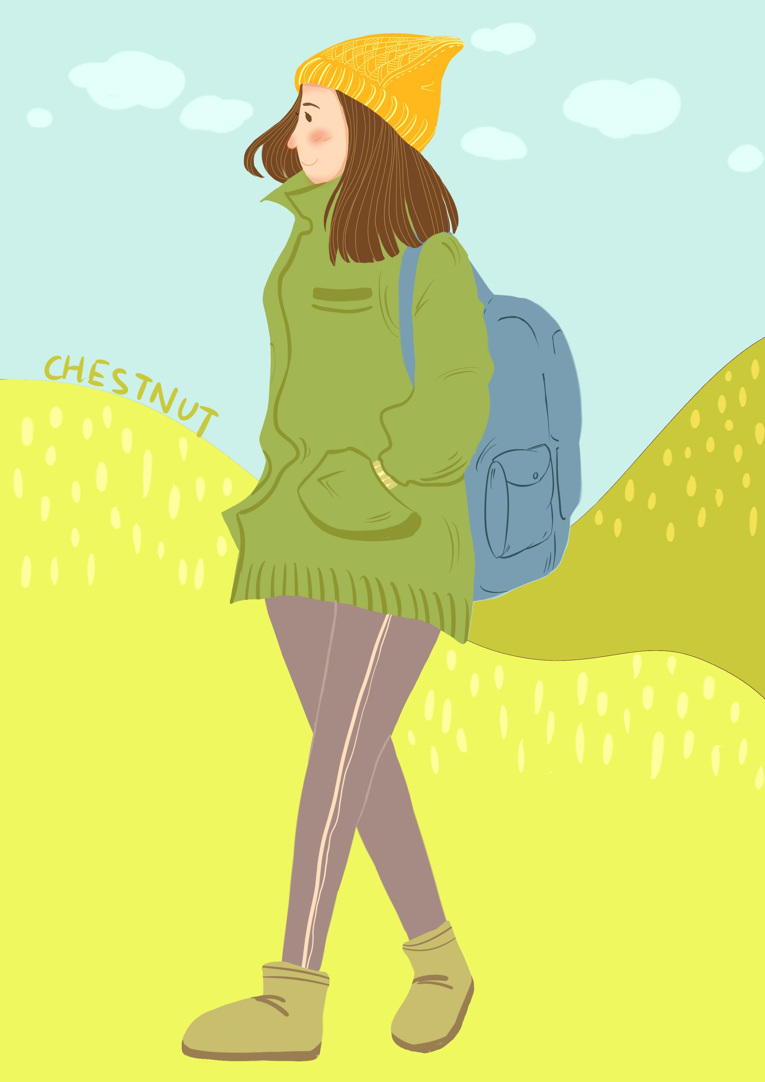 旅行人物插画