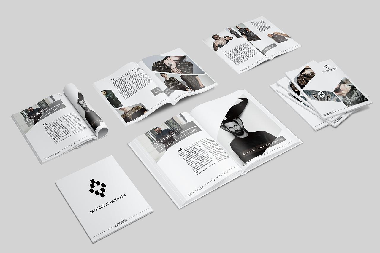 自己很喜欢的品牌 意大利时装品牌marcelo burlon画册设计图片