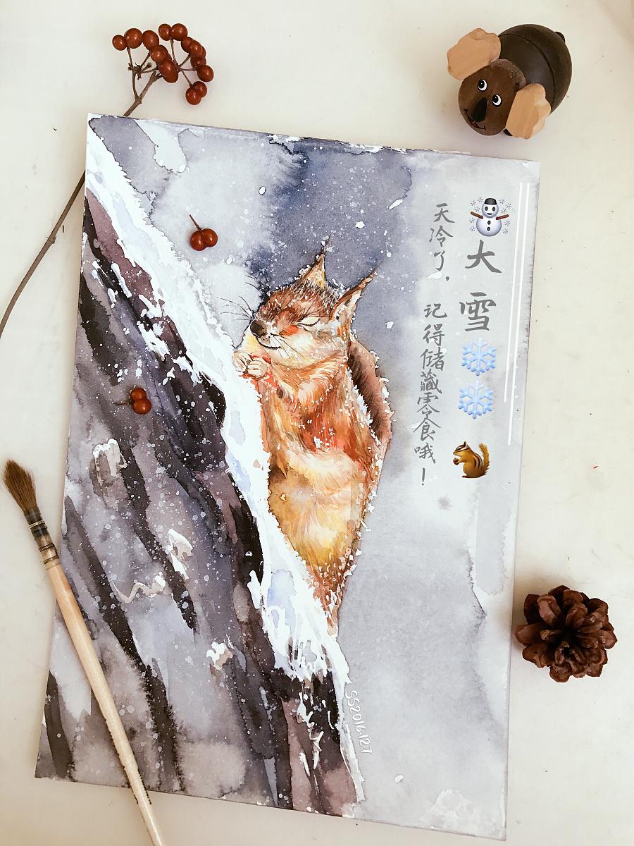 水彩手绘|水彩|纯艺术|咪咪不爱鱼 - 原创设计作品