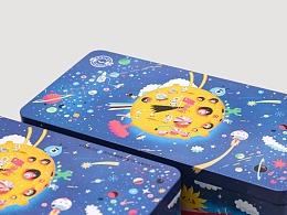 蚂蚁金服中秋月饼包装插画