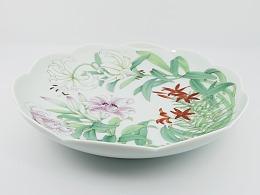 《百合》花瓣边陶瓷挂盘