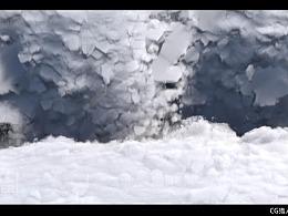 houdini 17制作雪地崩塌效果