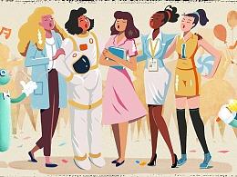 百度Doodle 妇女节篇 创作花絮