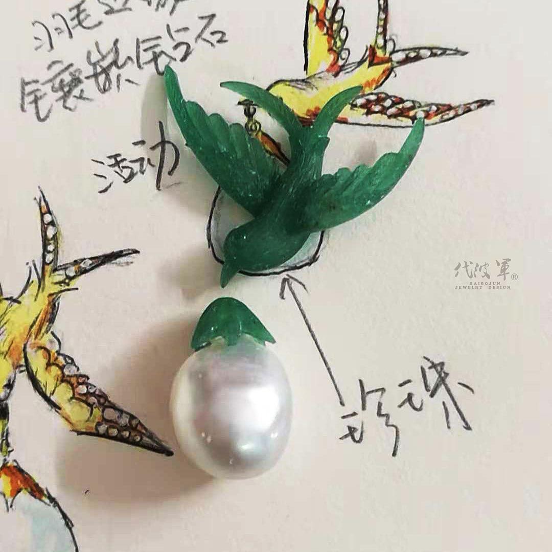 手工制作金燕子胸针过程记录