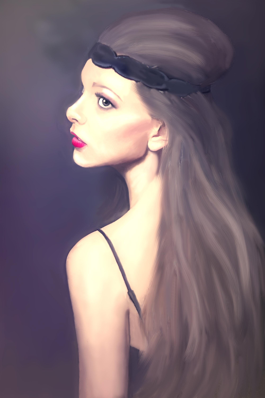 长头发的女孩