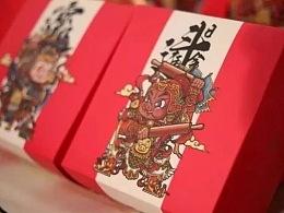 《老城礼·猪福礼》中式糕点包装插画