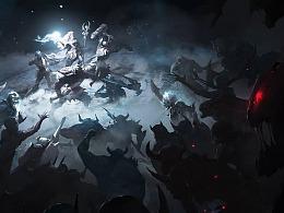 美式厚涂CG《拉结尔》:英雄集结,战斗开始