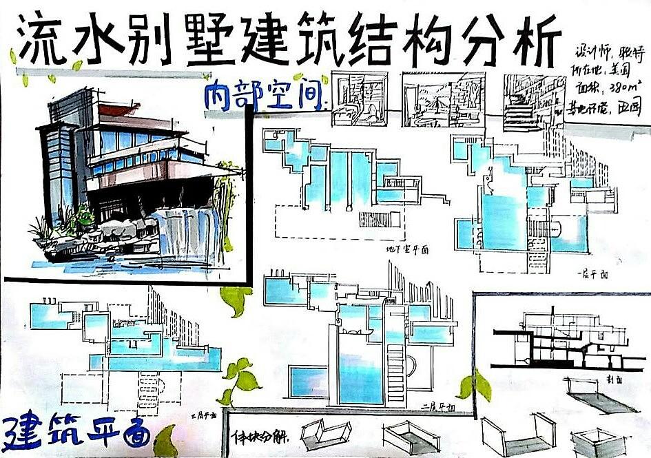 流水别墅建筑设计说明
