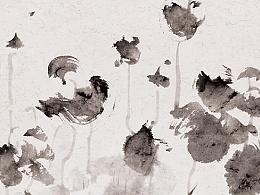 子木水墨作品《墨语 · 霜天》系列 七件