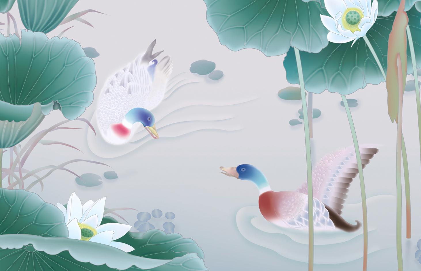 手绘-国画-花卉