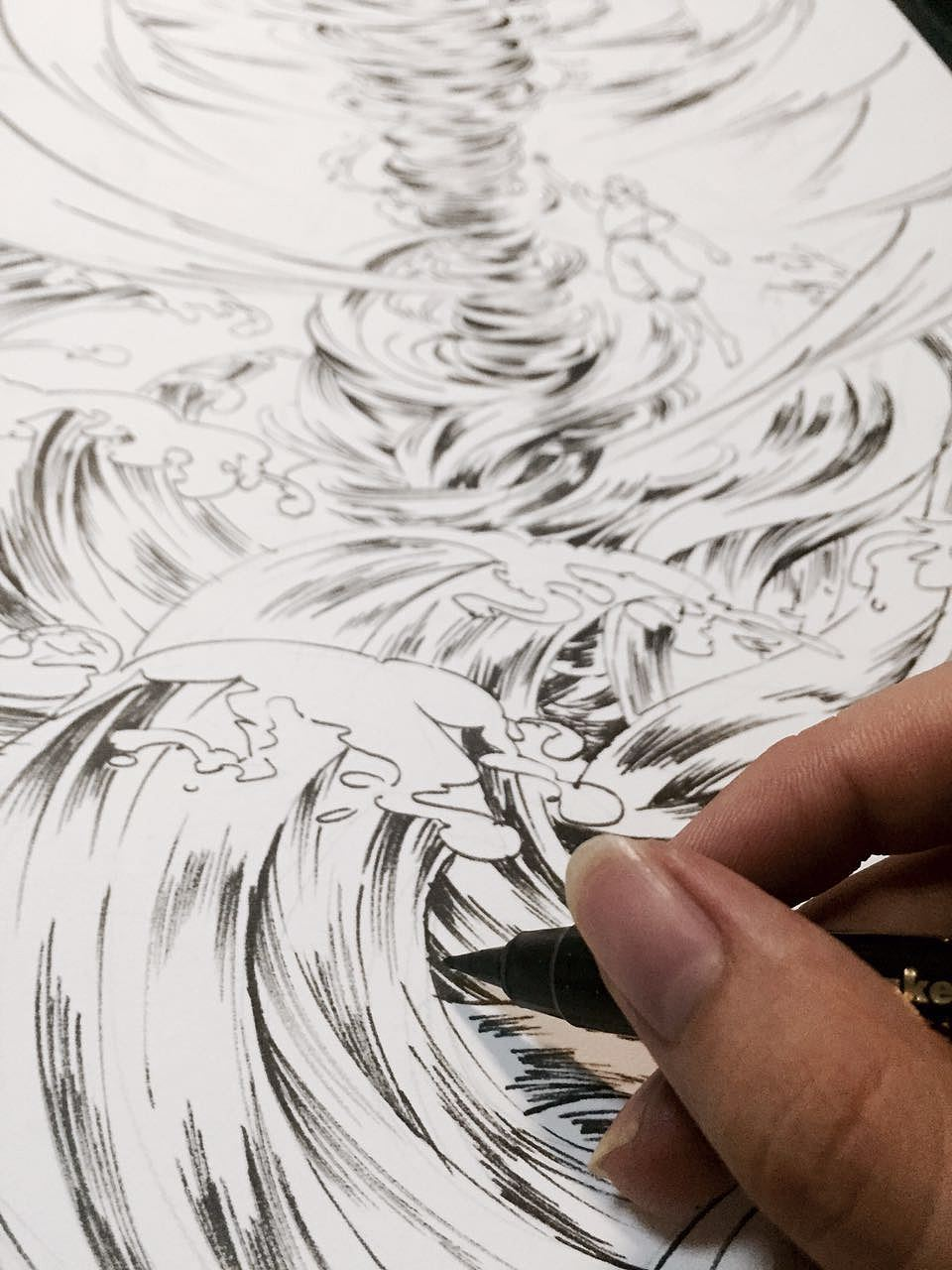 《大鱼海棠》的同人图.里面的角色:湫.