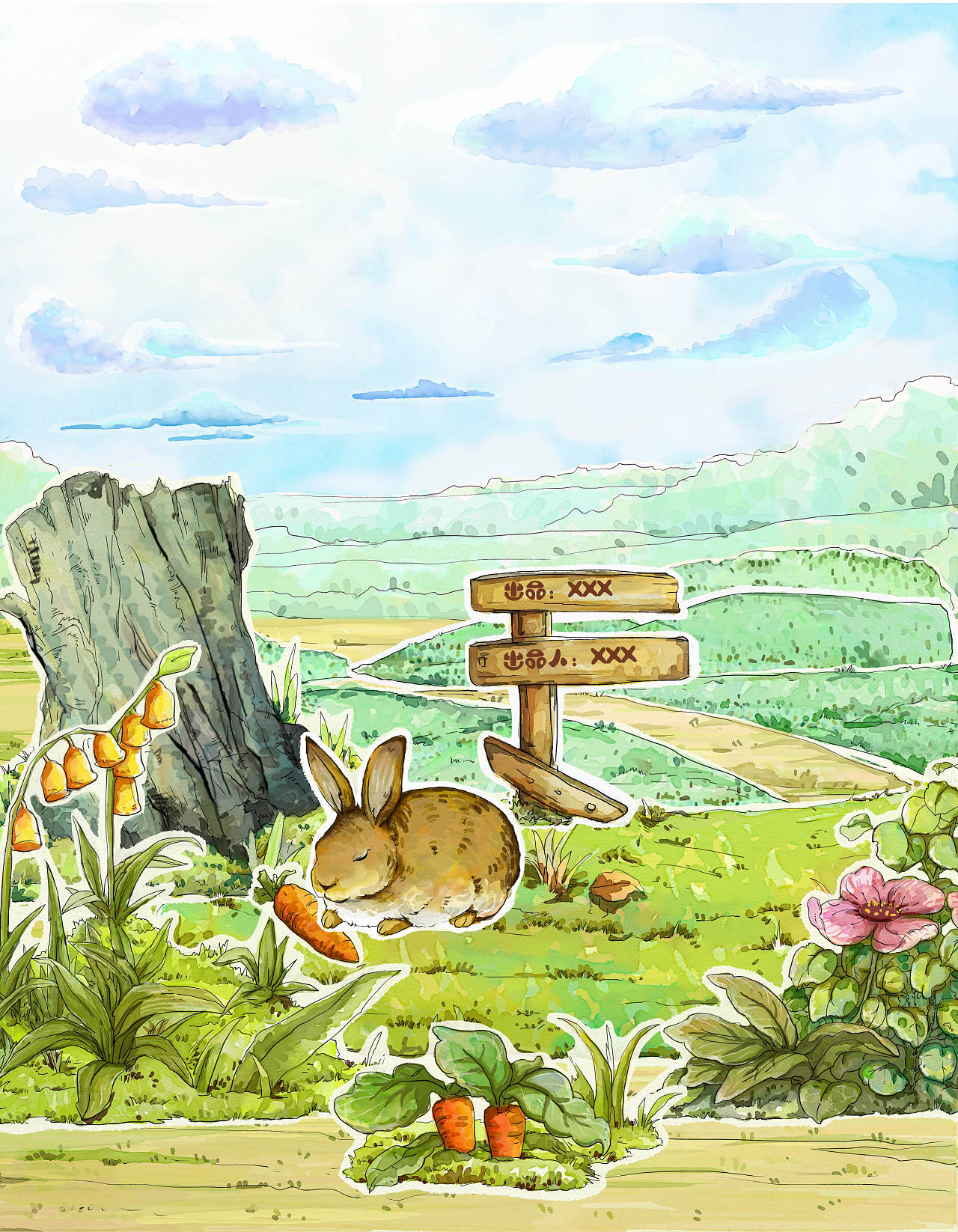 儿童插画欣赏|龟兔赛跑的故事,画的太精彩了(29图)