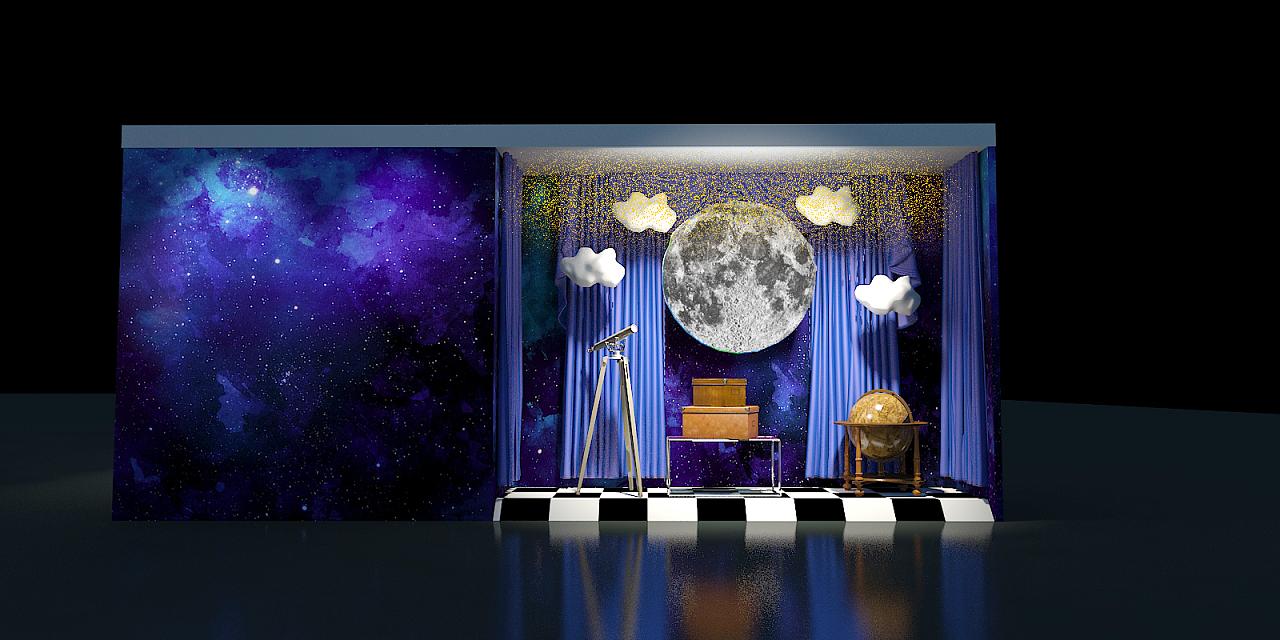 开业橱窗设计—主题:梦|空间|展示设计 |hashigang