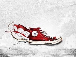 Photoshop打造动感流体运动鞋海报