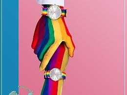 彩虹让我们勇敢做,勇敢牵手(Four B手表)