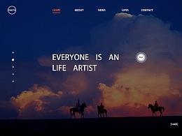 摄影网页设计