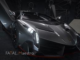 Lamborghini Veneno 写实渲染