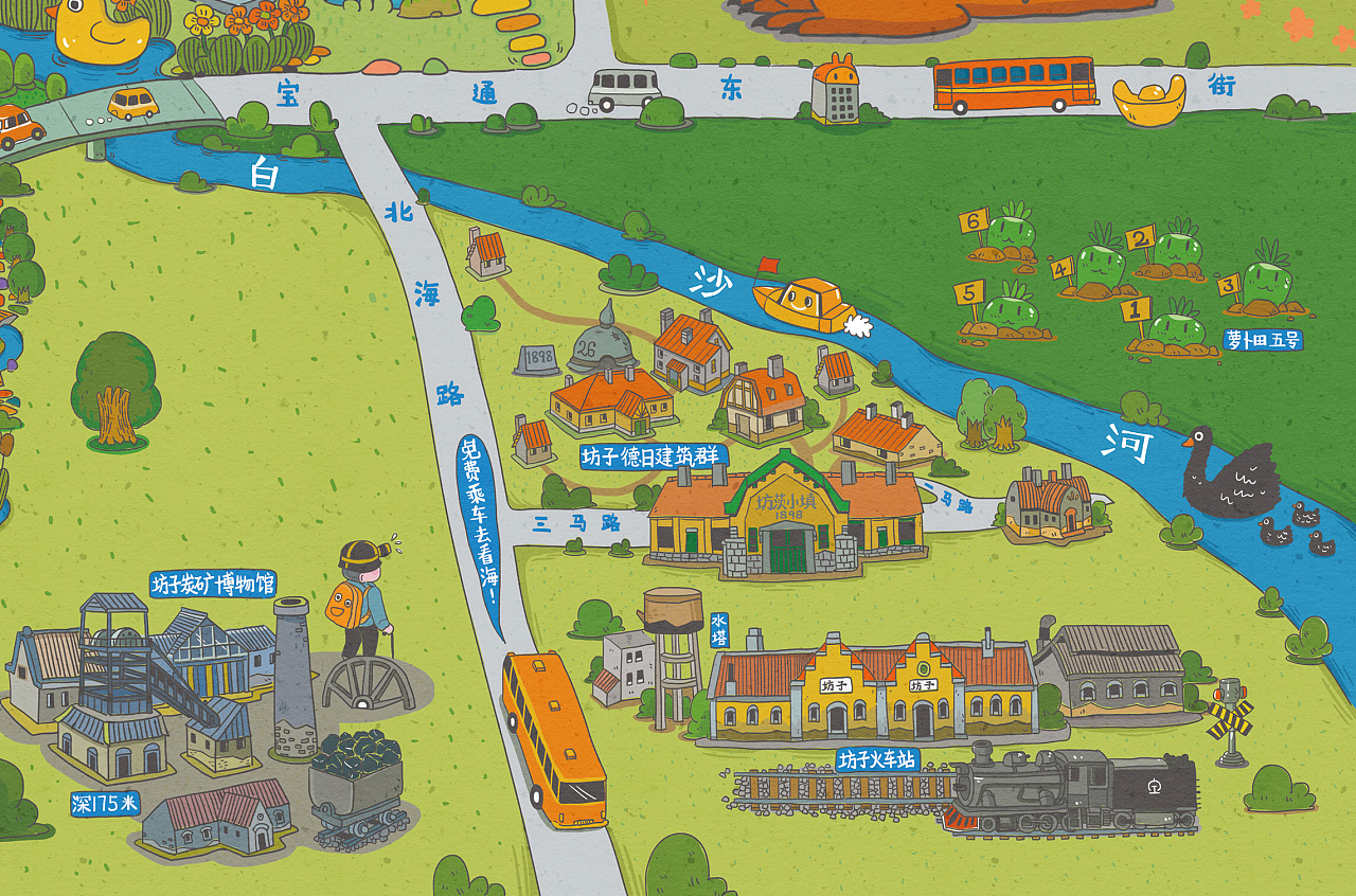 潍坊市旅游地图