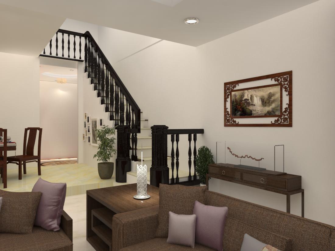 新中式农村公寓 空间 室内设计 zqs123 - 原创作品