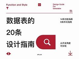数据表的20条设计指南