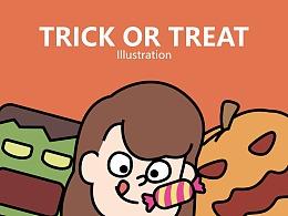 不给糖就捣蛋 插画/动画设计