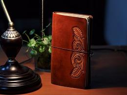 复古皮雕笔记本