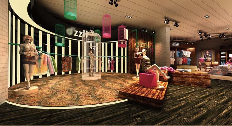 复古女装店|展示/橱窗/店面设计|空间/建筑|罪歌粉黛图片