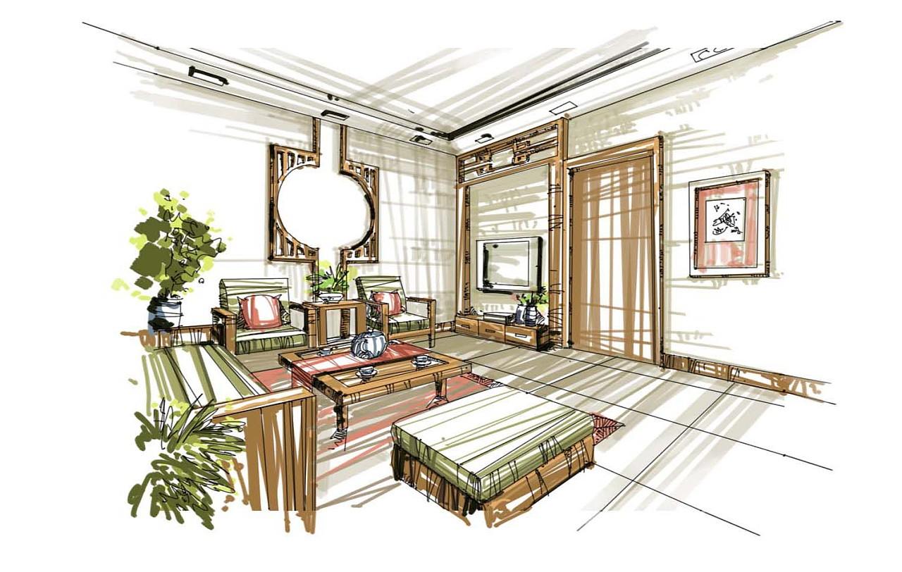 室内设计效果图线手绘_室内手绘效果图 插画 商业插画 园设计 - 原创作品 - 站酷 (ZCOOL)