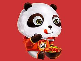 熊猫-呆小萌品牌形象设计