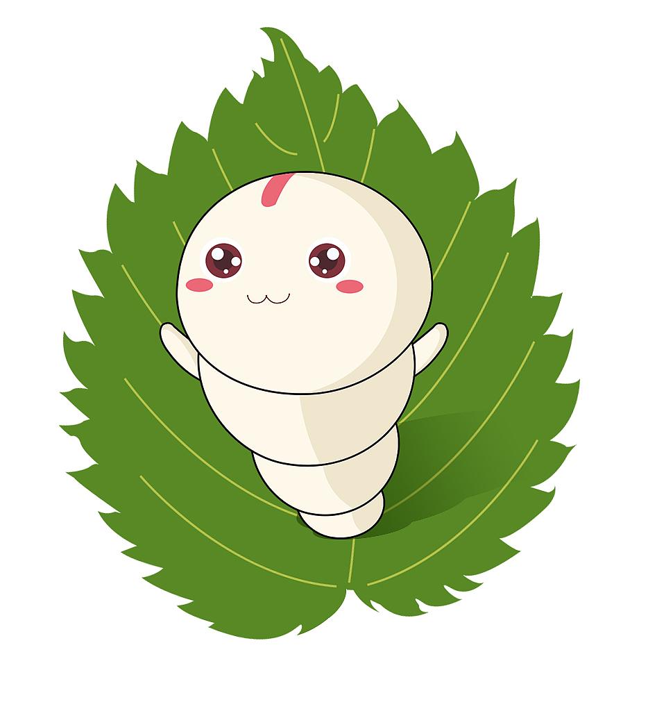 蚕宝宝吉祥物卡通形象