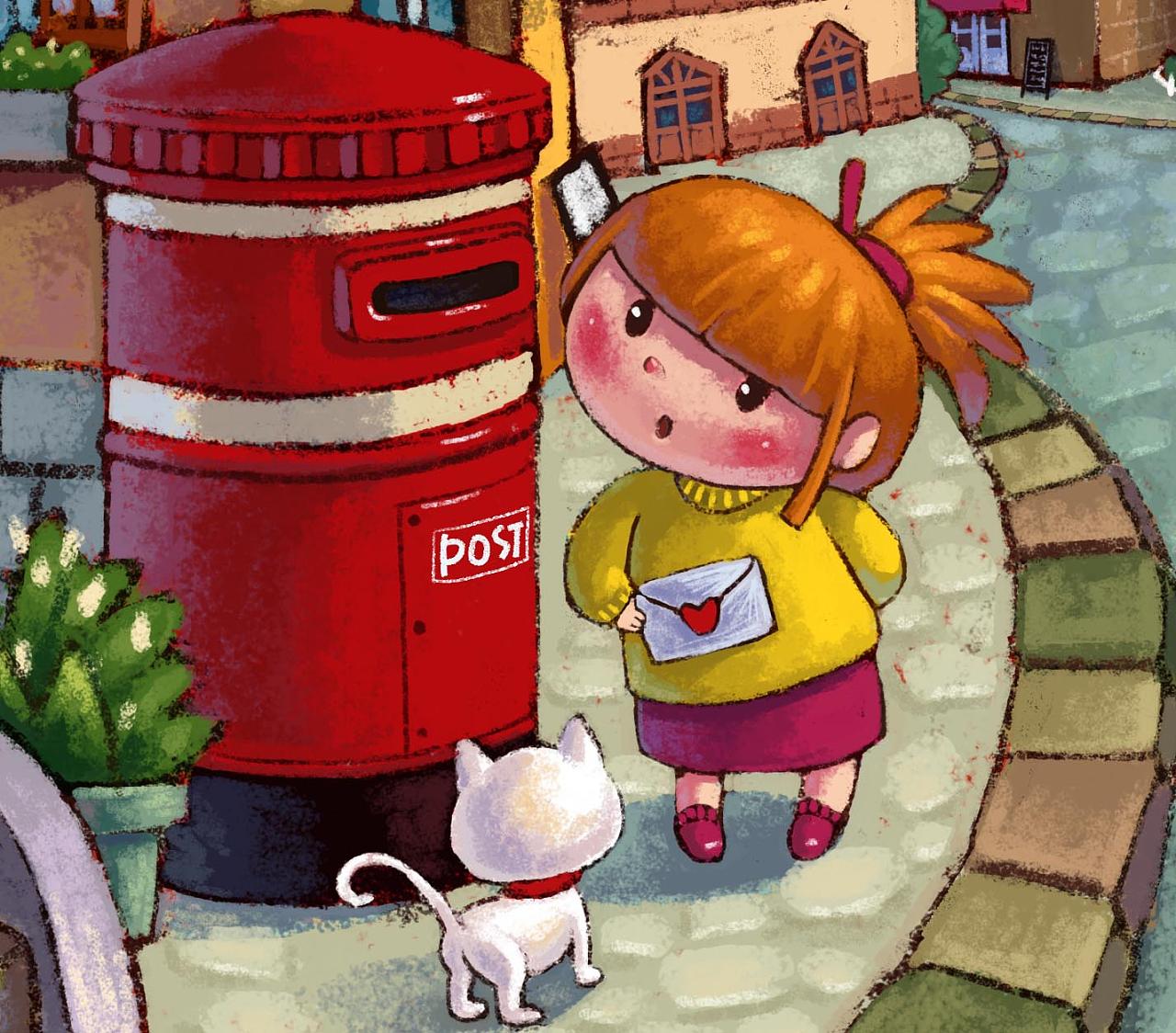 (娃他妈)手绘街景插画|插画|儿童插画|娃他妈 - 原创图片