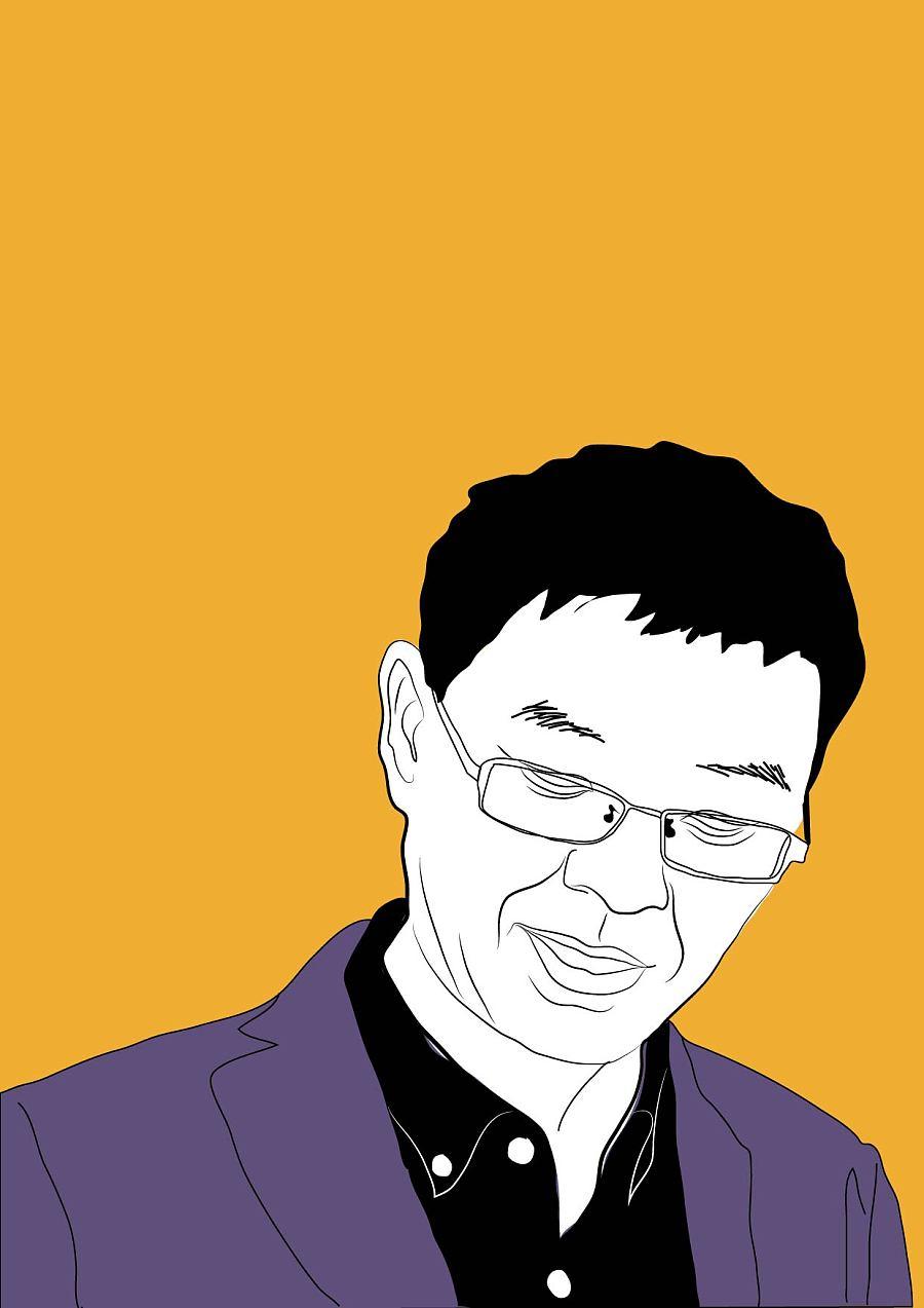 百家插画讲坛漫画像|漫画原创|绘画|涯-习作峰凰囚老师图片